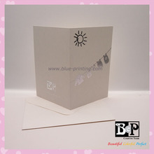 Fashionable Foiled Gift Greeting Card for Greeting