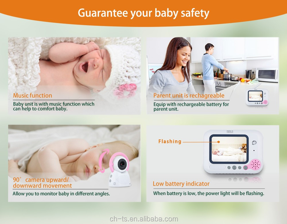 "3.5"" LCD Screen Wireless Digital Video Baby Monitor,HD Camera with Night Vision"