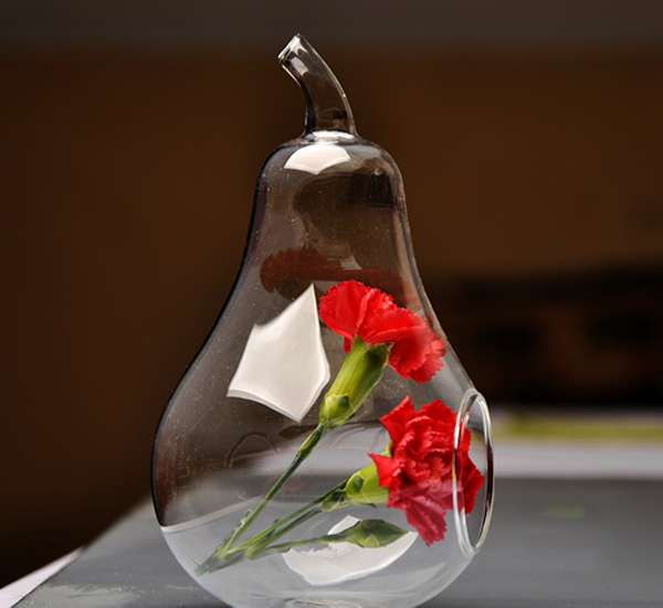 Wholesale apple shape glass vase