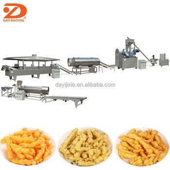 high output corn curl fried cheetos snacks making extruder machine