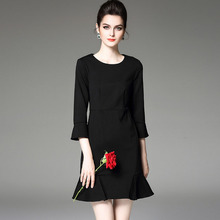 Customized casual style elegant ladies formal office dress for women