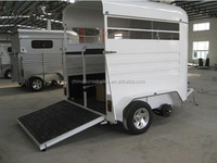 2 Horse Economic Straight Load Float ,horse trailer/professional manufacturer /Iron knight