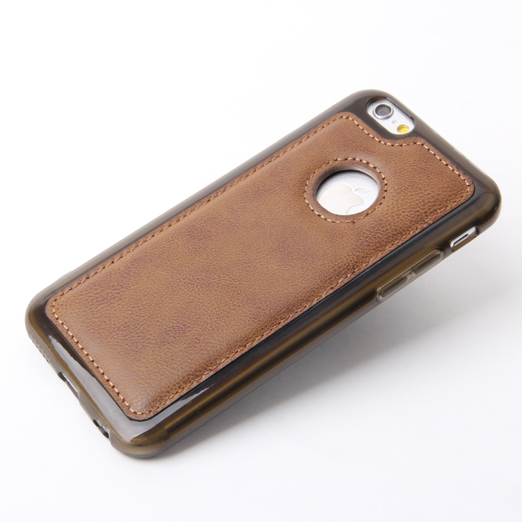 guangzhou mobile phone accessories soft tpu back cover leather flip case for iphone 6s