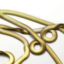 8mm custom flat brass snake chains