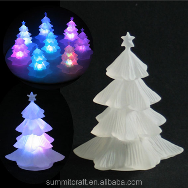 Christmas decoration wholesale frosted led tree shaped light