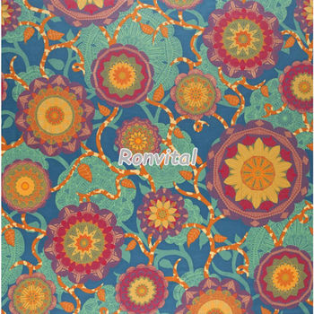 Most popular high-quality super wax java print cotton fabric Item No.051391