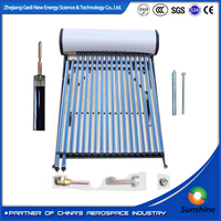 High Pressure Solar Water Heater with heat pipe tubes high quality