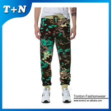 fashionable printed Navy custom jogger pants