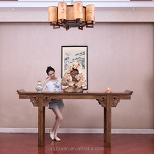 Luxury Authentic Mahogany Furniture Chinese Antique Style Wood Carved Console Table On Sale