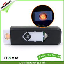 Fast shipping usb rechargeable lighter Ocitytimes promotional lighter with logo