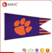 OEM Promotional Custom Printed Clemson Tigers Abstract Art Wall Decorative Felt Satin Flag