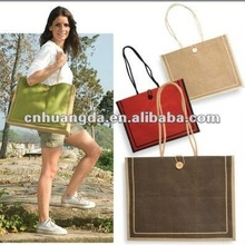 2012 fashion design Jute shopping bag