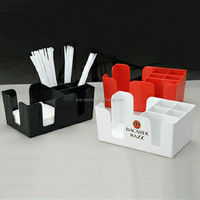 Custom plastic bar napkin straw holder