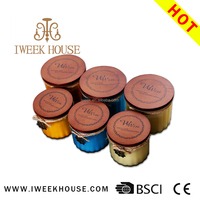 best quality custom label scented soy wax candles with wooden lid for home decor
