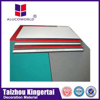 Alucoworld fire protection pvdf coating exterior acp sheet/aluminum composite panel(acp)