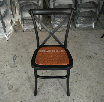 durable commercial restaurant resin crossback chair