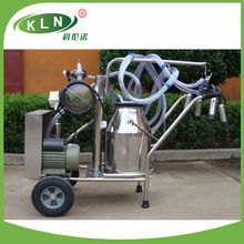 vacuum pump type milking machine with one barral