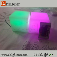 Night Club Rechargeable Plastic 16 Color Changing Cube Table Light/led cube rgb 10x10x10/LED Moon Light Cube