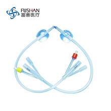 Medical Disposable Standard Silicone Foley Catheter Three Way Pure Silicone Medical Consumables