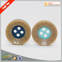 Retail 18mm custom made clothing button shirt button hole sewing machine