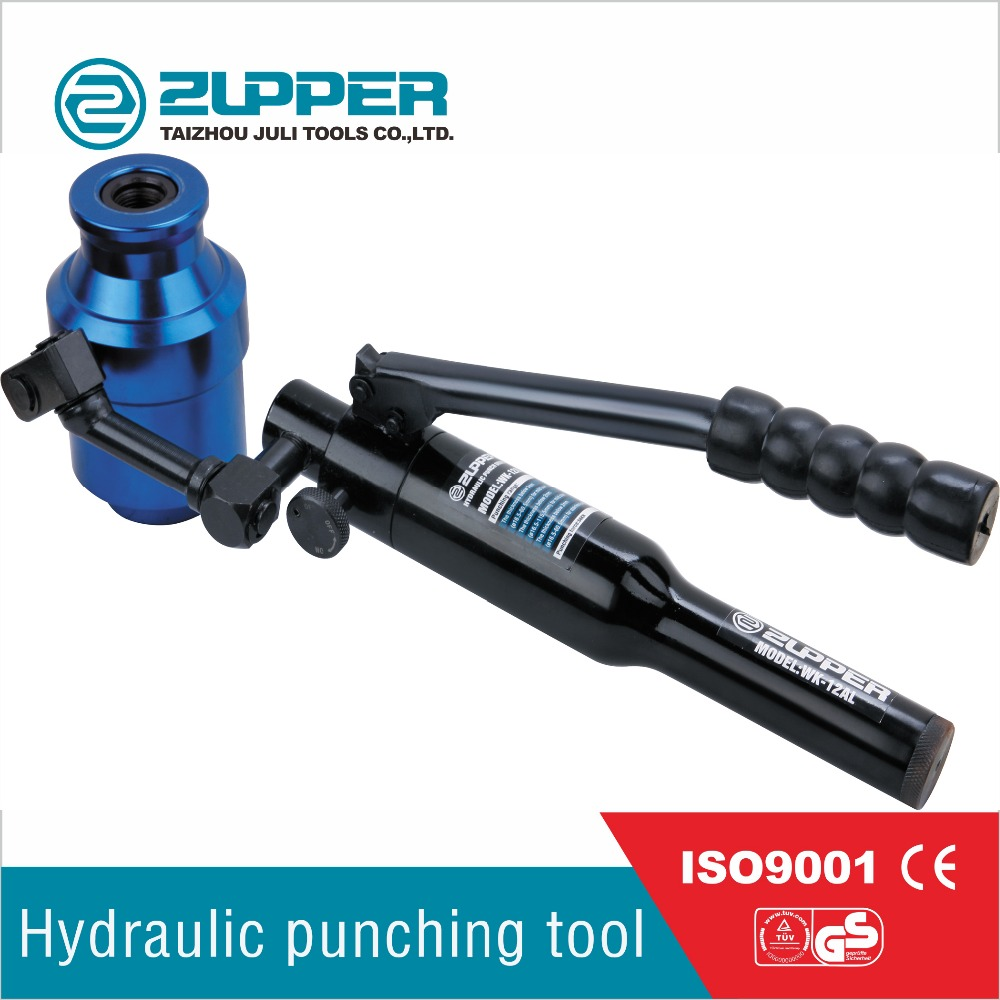 WK-12AL manual hydraulic hand hole puncher punching tool