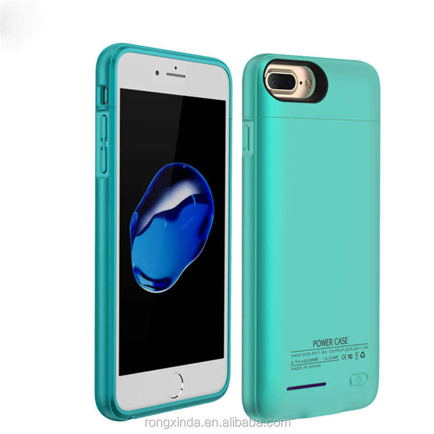 For iphone charger 4200mah new Arrival external backup battery charger case for iphone 6 magnetic battery case