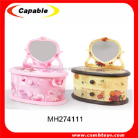dressing table shaped wonderful life music box with custom music
