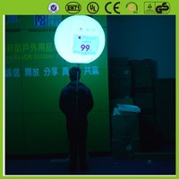 attractive advertising product led backpack inflatable balloon inflatable light balloon