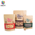 Stand Up Kraft Paper Dried Fruit Packaging Bags with Zipper Window