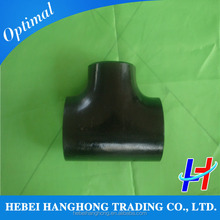 carbon steel gas compression straight tee pipe fittings