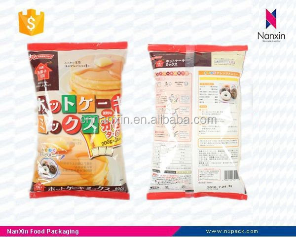 food grade plastic cake mix packing bag