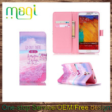 Wholesale Printed Cell Phone Cover Wallet Flip Leather Case for Samsung Galaxy Note 3 in Stock