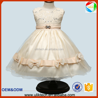 Elegant quality baby girls party dress hot selling baby dress 2016 frock designs girls wedding dress