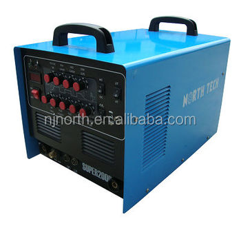 super 200p ac dc pulse tig welder made of MOSFET,multi-function plasma cutting machine and tig welding machine