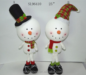 "25"" standing foam head decorative snowman for christmas outdoor decoration"