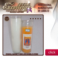paraffin wax Material Multi-Colored glass Religious candle whatsapp:0086 15097479316