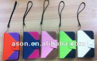 PU Leather Protective Case for iPhone with Button Closure and Strap
