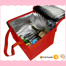 35*29.5*23CM Aluminum Foil recyclable insulated wine bag cooler, disposable cooler bag