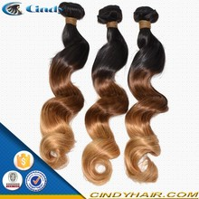 Hot sale !!! 8-36inch cheap fashion and hot selling black burgundy color jerry curl peruvian ombre colored hair weave