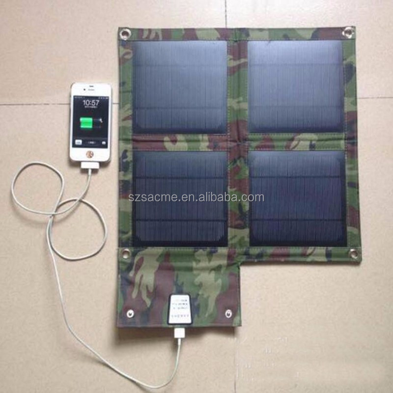 Portable Charger Camouflage Solar Panel 10W foldable solar power charger bag