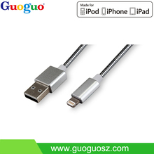 wholesale mobile phone accessories mfi certified metal 2.0 usb data cable