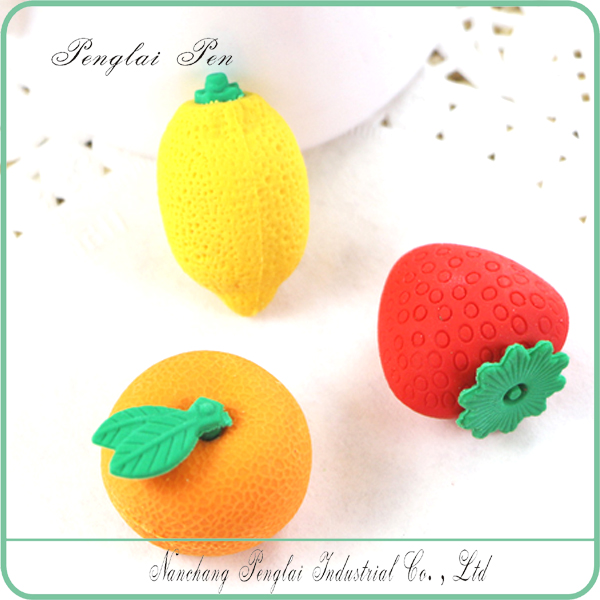 2017 Scented 3D Rubber Eraser For Kids Stawberry Shaped erasers