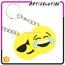 Promotion Gifts Custom Soft PVC Rubber Wholesale Emoji Keyring