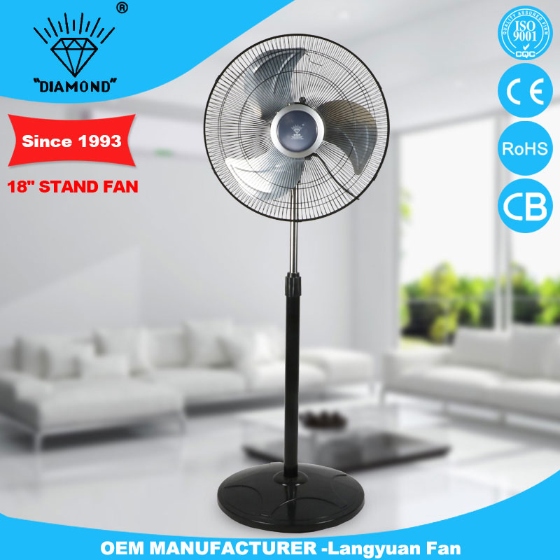 Hot selling 18'' outdoor super asia pedestal fan with metal blades