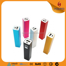 Colorful Universal Portable Mobile Portable 2600mah Mobile Phone Emergency Battery Charger