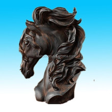 New resin horse head bust statue figure sculpture