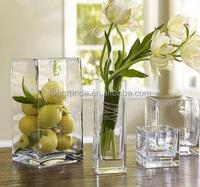 High Quality Home Decoration Cylinder Flower Vase Glass