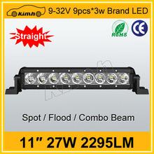 CE,ROHS Certification single row 27w led off road led light bar