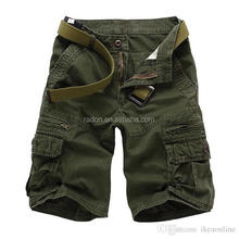 100% cotton canavas casual outdoor olive green summer short cargo pants