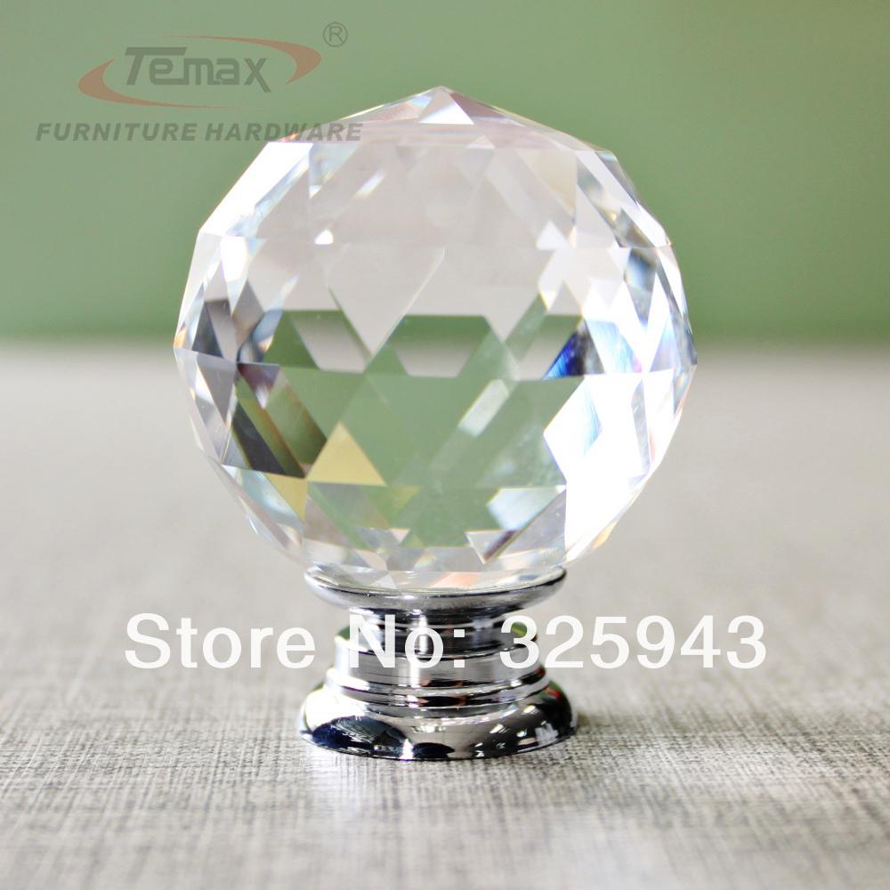 2014 populaire kristal handgrepen voor meubels diamant glas ...